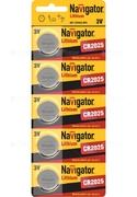 Элем. пит. Navigator NBT-CR2016-BP5 лит. арт.94763