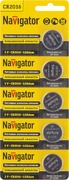 Элем. пит. Navigator NBT-CR2032-BP5 лит. арт.94765