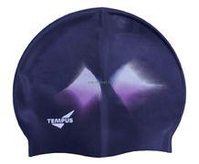 Шапочка для плав. Tempus (силикон) черн-сирен арт.СР405