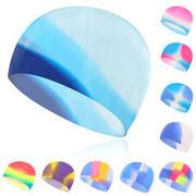 Шапочка для плав. Tempus (силикон) мультиколор арт.МС (цв.162 (сирен-голуб-бел))