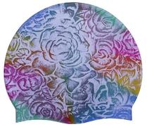 Шапочка для плав. Tempus (силикон) мультиколор-роза арт.СР108
